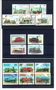 (AB196) TRAINS  : GOOD SELECTION ALL CTO NEVER HINGED 3 SCANS