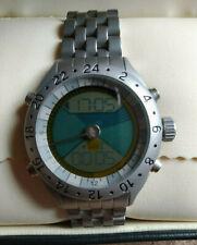 Very Rare SKY Time Solunar 24h Sun/Moon Astronomical Dual/World time Alarm Watch