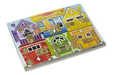 Melissa & Doug Wooden Latches Board Puzzle Pre School Toy - NEW