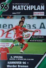Programm 2015/16 Hannover 96 - Werder Bremen