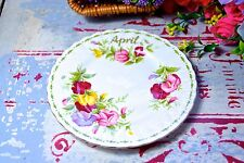ROYAL ALBERT SIDE DISH- FLOWR OF THE MONTHS SERIES - APRIL SWEET PEA - MINI DISH
