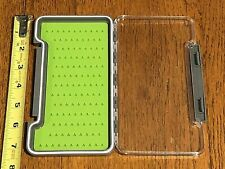 Slimline Waterproof Fly Box w/ Silicon Liner, Holds up to 121 Flies