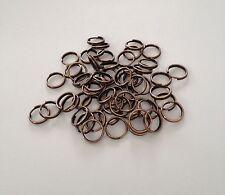 400 pcs Copper Tone Open Split Jump Rings 8mm Jewelry Item #14 Findings Ring