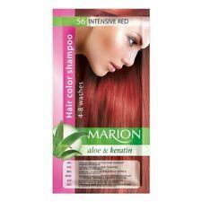 Marion Hair Temporary Dye Colour Shampoo 4-8 Wash Gloves Various Colours Aloe