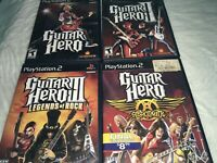 Guitar Hero/II/III Legends Of Rock/Aerosmith PS2 Sony PlayStation Fast Free Ship