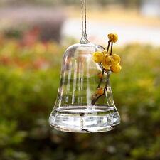 Bell Shape Glass Hanging Vase Decorative Terrarium Hydroponic Planter Home Decor