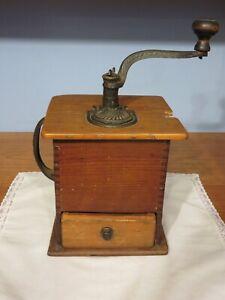 Antique Wood Coffee Grinder