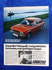 Fiat 128 berlinetta - Werbeanzeige Reklame Advertisement 1977 __ (706