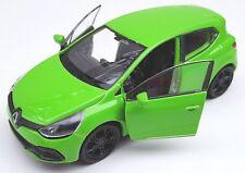 BLITZ VERSAND Renault Clio RS neongrün 1:34-39 Welly Modell Auto NEU & OVP