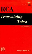 RCA TRANSMITTING TUBES TECHNICAL MANUAL TT-5 1962 PDF