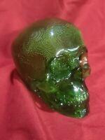 Translucent Green Skull Head Skelton