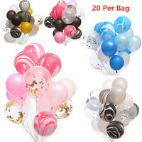 "20Pcs/Bag 12"" Confetti Latex Balloon Helium Birthday Wedding Party Decoration"