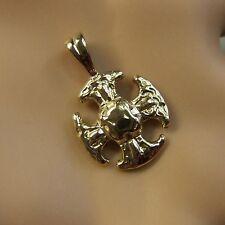 9 ct GOLD  new small canterbury cross pendant