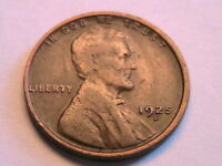 1925-S Lincoln Cent Ch VF Sharp Very Fine Toned Original Wheat Penny USA Coin