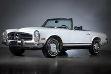 """MERCEDES BENZ 280 SL WHT PAGODA  (Side-V) 30""""x 20"""" LARGE POSTER / PHOTOGRAPHY"""
