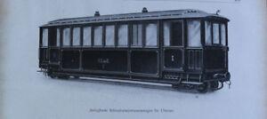 Blatt 1910-30 A Zerlegbarer Schmalspurpersonenwagen für Übersee Eisenbahn Wagon