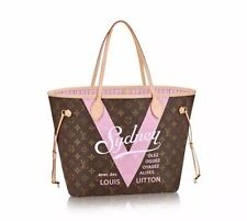 LOUIS VUITTON V Neverfull MM SYDNEY Ballerina Pink TOTE Bag NEW Authentic NWT