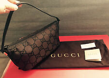 Authentic GUCCI GG Logos Mini Purse Pouch Bag  Pochette - Brown - Made in Italy