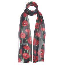Écharpes et châles foulards floraux en polyester pour femme