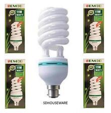 5 X 11W 6400K CFL LIGHTBULB DAYLIGHT BULB B22 BAYONET ENERGY SAVER BULB 11 WATTS
