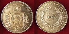 BRESIL  , 1000  REIS  ARGENT  1861  ,  SUPERBE