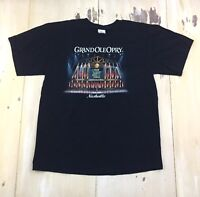 GRAND OLE OPRY: Vtg Black Member List County Music Nashville T-shirt, Mens LARGE