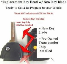 Volvo 30669839 flip key head uncut blade blank Keyless remote entry switchblade