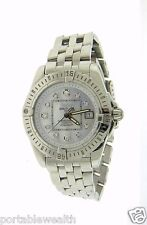 Ladies Breitling Cockpit A71356 SS Midsize Factory Mother of Pearl Diamond Dial