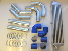 "Universal Front Mount Intercooler Kit FMIC 57 Mm 2.25"" Bleu Tuyaux 550x140x65 Core"