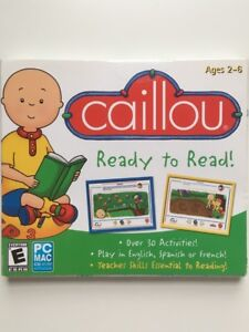 CAILLOU READY TO READ ENGLISH SPANISH FRENCH BY ENCORE PC MAC LEARN 705381207719