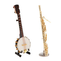 2x 1:6 Scale Banjo Bassoon Decorations Toys Fit for 12'' Kumik CY Action Figure