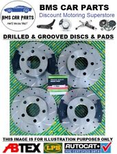 Toyota MR2 1.8 ZZW30 Petrol (00-06) Front Rear Drilled Groove Brake Discs & Pads