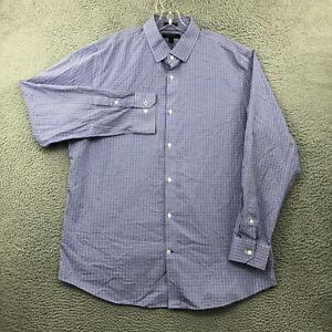 Banana Republic Shirt Mens XL Button Up Non Iron Camden Standard Fit Purple