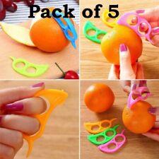 Orange Peeler Easy Opener Lemon Slicer Cutter Plastic Kitchen Tools (Pack of 5)