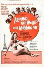 Around The World With Nothing On Poster 01 A2 Box Canvas Print