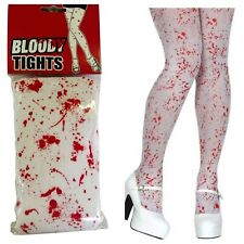 HALLOWEEN BLOOD BLOODY TIGHTS ZOMBIE SCARY HORROR ZOMBIE FANCY DRESS ONE SIZE