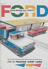 FORD MEDIUM DUTY TRUCKS USA SALES BROCHURE SEPTEMBER 1957 FOR 1958 MODEL YEAR