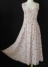 Vtg Timing Summer Dress Fit & Flared Swing Strap Multi-Color Size L