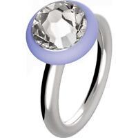 HIP HOP anello donna Happy Loops HJ0152 acciaio pietra cristallo silicone misura