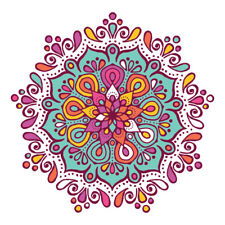 Design colorato Mandala adesivo decorazione auto, furgone, frigorifero, Laptop, Wall Art Decalcomania