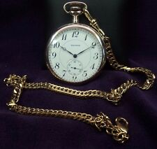 Serviced~43mm~1912 Waltham 12s~15J~M.1894~G.220~Gold Filled Pocket Watch & Chain