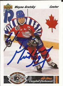 1991-92 AUTOGRAPHED Upper Deck Hockey Card of Wayne Gretzky #621