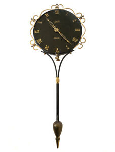 RETRO GERMAN MID CENTURY SCHATZ ELEXACTA QUEEN ANN ELECTRIC SWINGER WALL CLOCK