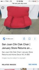 New San Juan Clik-Clak Chair Cover by Lifestyle Solutions RED