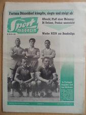 SPORT MAGAZIN KICKER 18A - 25.4. 1960 Portugal Real Madrid - FC Barcelona 3:1