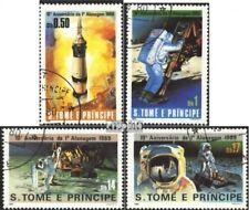 Sao Tome e Principe 646-649 gestempeld 1980 10. Jubileum D. 1. MonDlanDung