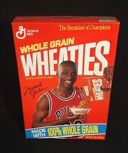 Vintage Wheaties Michael Jordan Cereal 12 oz Box -1990 Unopened