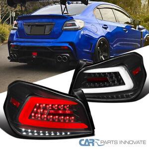 Tail Lights For Subaru 15-19 WRX/WRX STI Black Sequential LED Brake Lamps