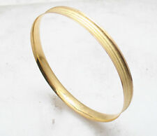Turkish Small Medium Size Textured Bangle Bracelet Real Solid 22K Yellow Gold