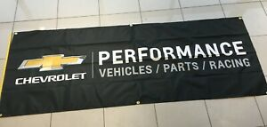 CHEVROLET Performance 3' x 8' Black Chevy Banner Camaro Corvette for Garage
